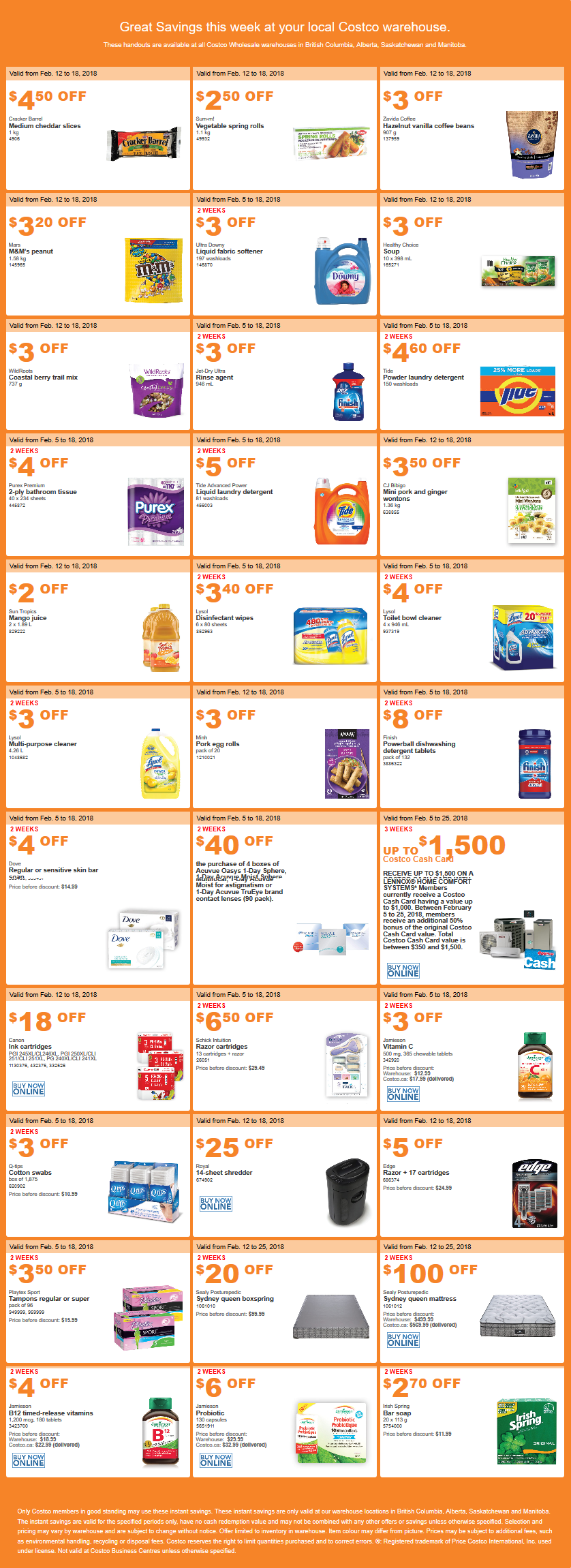 Costco West Sale Items (1 of 2) for February 12-18, 2018 for BC