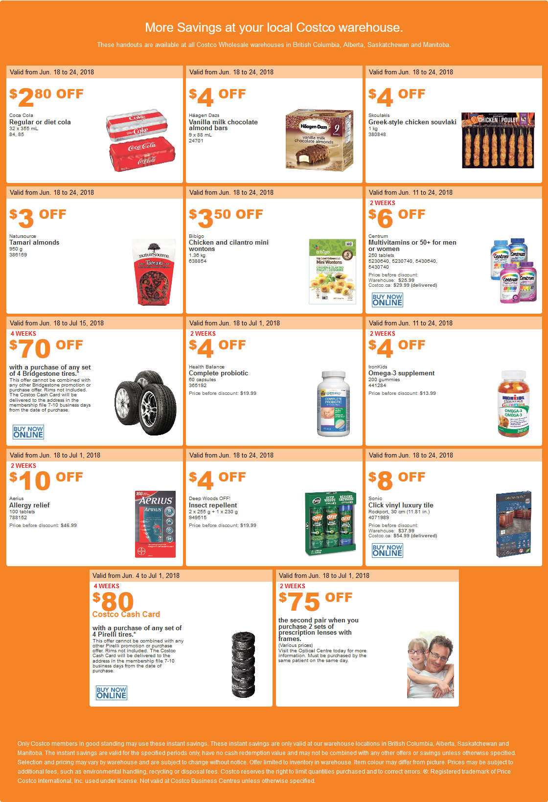 Costco West Sale Items for June 18-24, 2018 for BC, Alberta